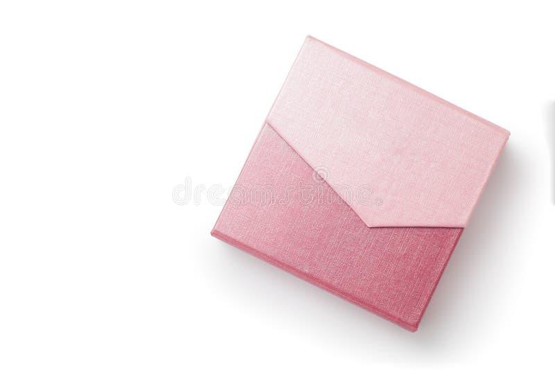 Caixa de presente cor-de-rosa fotografia de stock royalty free