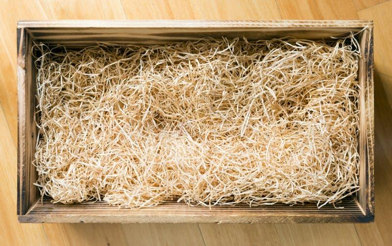 Caixa de presente de madeira foto de stock