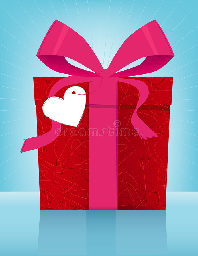 Caixa de presente do dia do Valentim ilustração do vetor