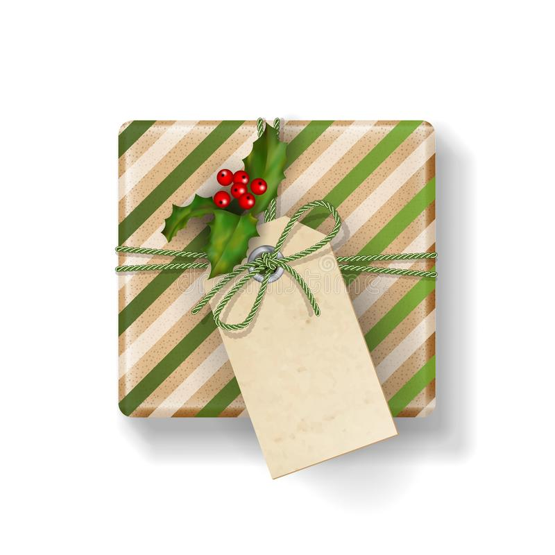 Caixa de presente do Natal ilustração royalty free
