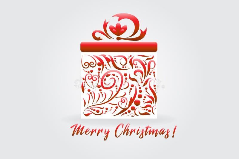 Caixa de presente do presente de Natal ilustração stock