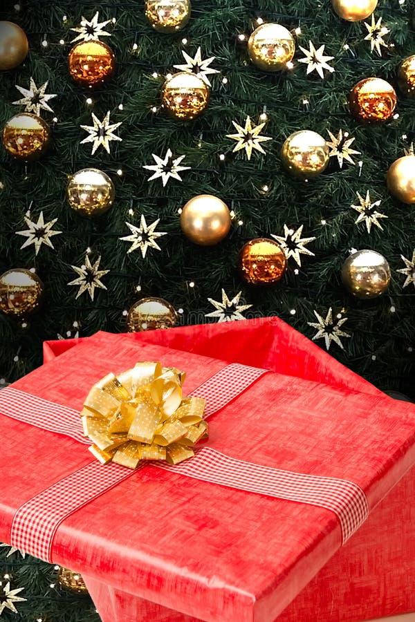 Caixa de presente do presente de Natal imagens de stock royalty free