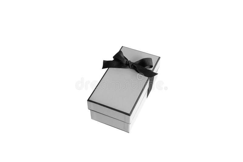 Caixa de presente isolada no fundo branco foto de stock