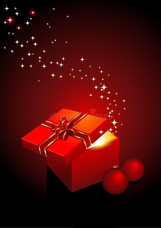 Caixa de presente mágica ilustração royalty free