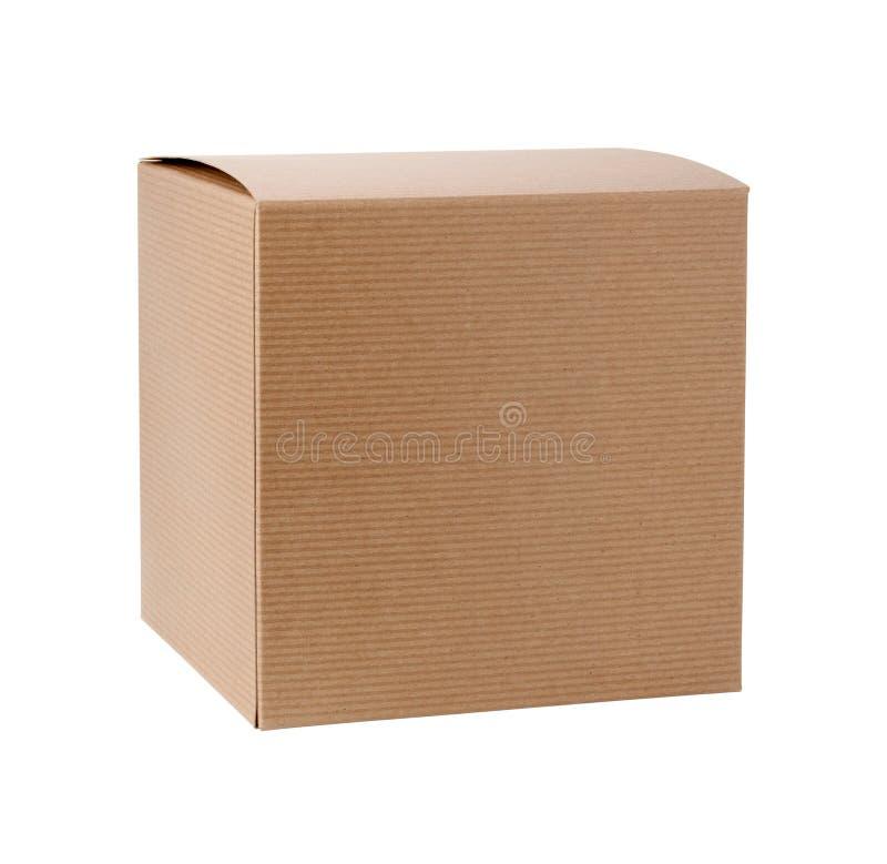 Caixa de presente quadrada do cartão foto de stock