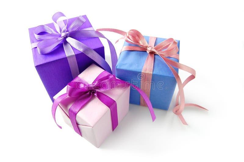 Caixa de presente três foto de stock royalty free
