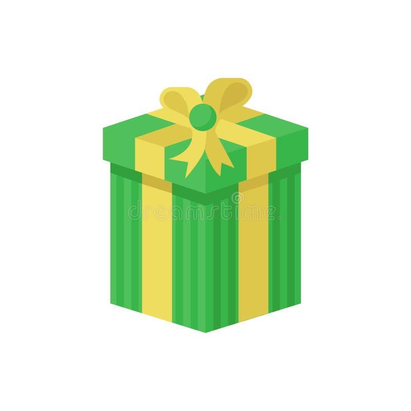 Caixa de presente verde ilustração royalty free