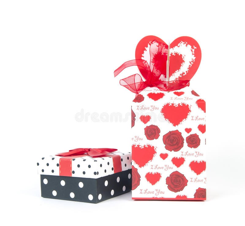 Caixa de presente vermelha fotografia de stock royalty free
