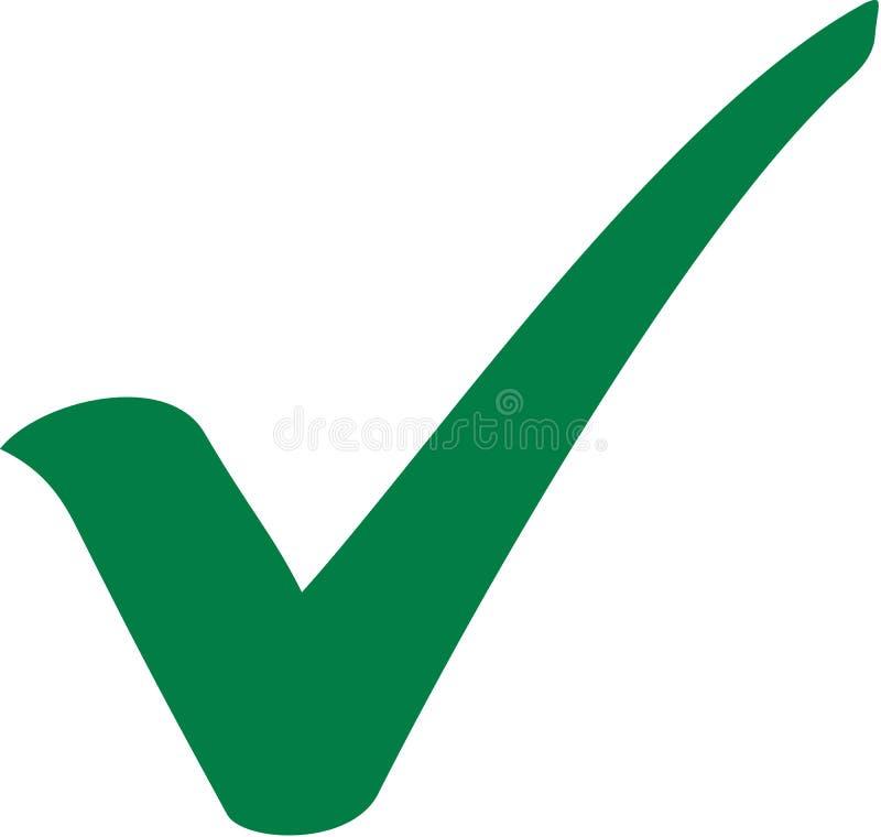 Caixa de seleção verde da verificação ilustração stock