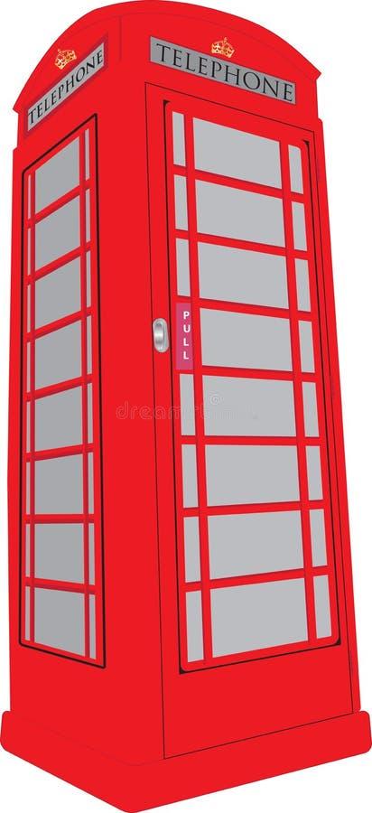 Caixa de telefone ilustração royalty free