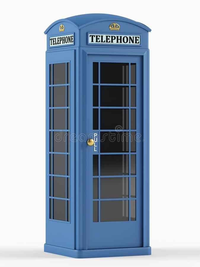 Caixa de telefone britânica ilustração stock