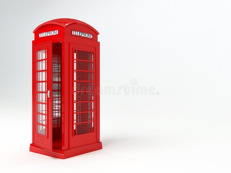 Caixa de telefone de Londres ilustração stock