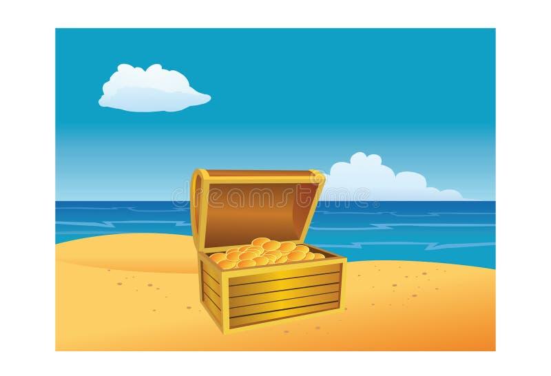 Caixa de tesouro ilustração stock