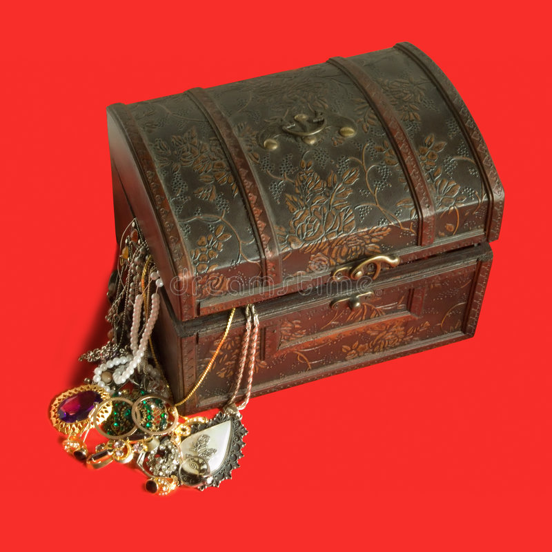 Caixa de tesouro fotografia de stock