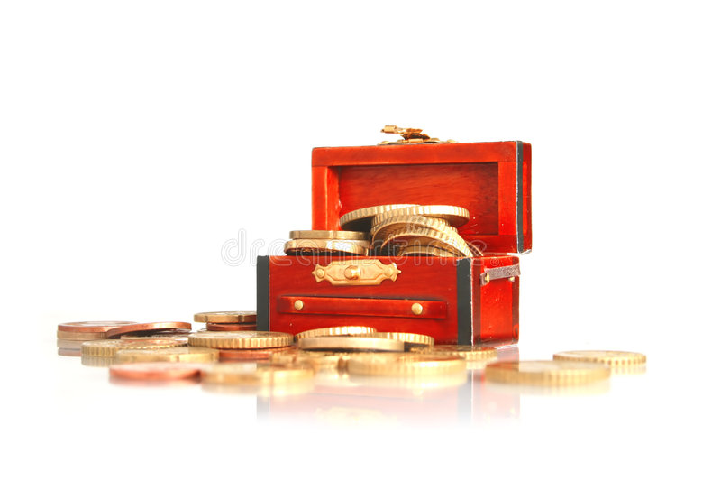 Caixa de tesouro. imagem de stock