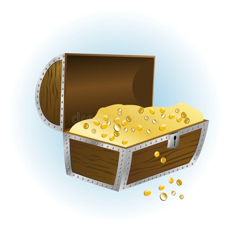 Caixa de tesouro aberta Assuntos: crise econômica imagens de stock royalty free