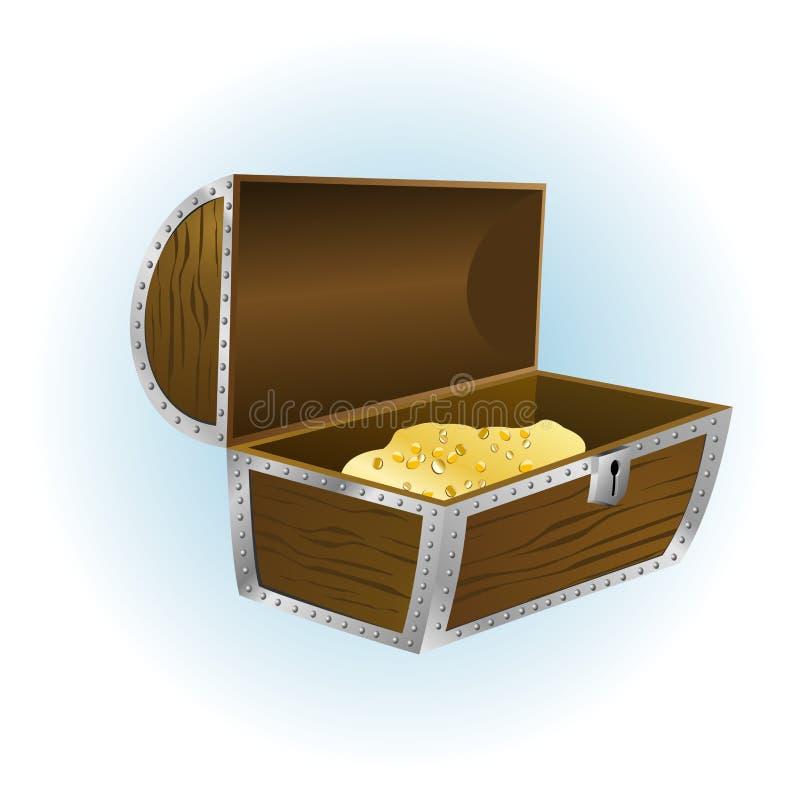 Caixa de tesouro aberta Assuntos: crise econômica fotografia de stock royalty free