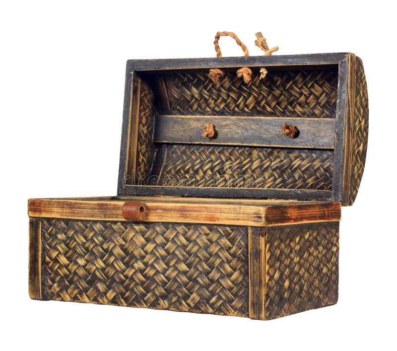 Caixa de tesouro de madeira antiga ornamentado foto de stock royalty free