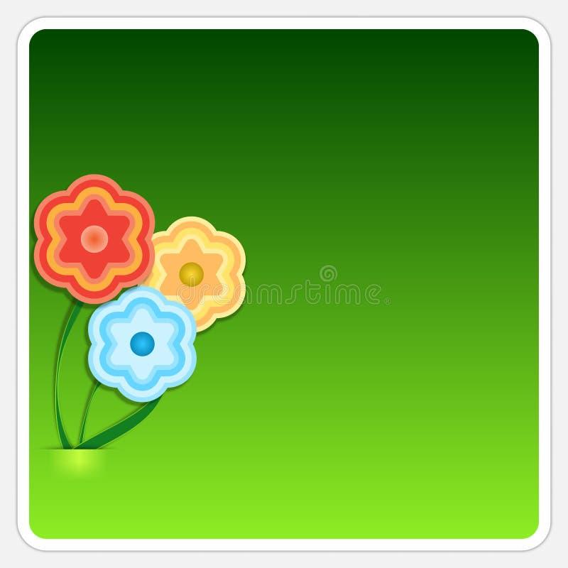 Caixa de texto com flores ilustração do vetor