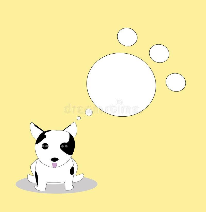 Caixa de texto do Doggy ilustração royalty free