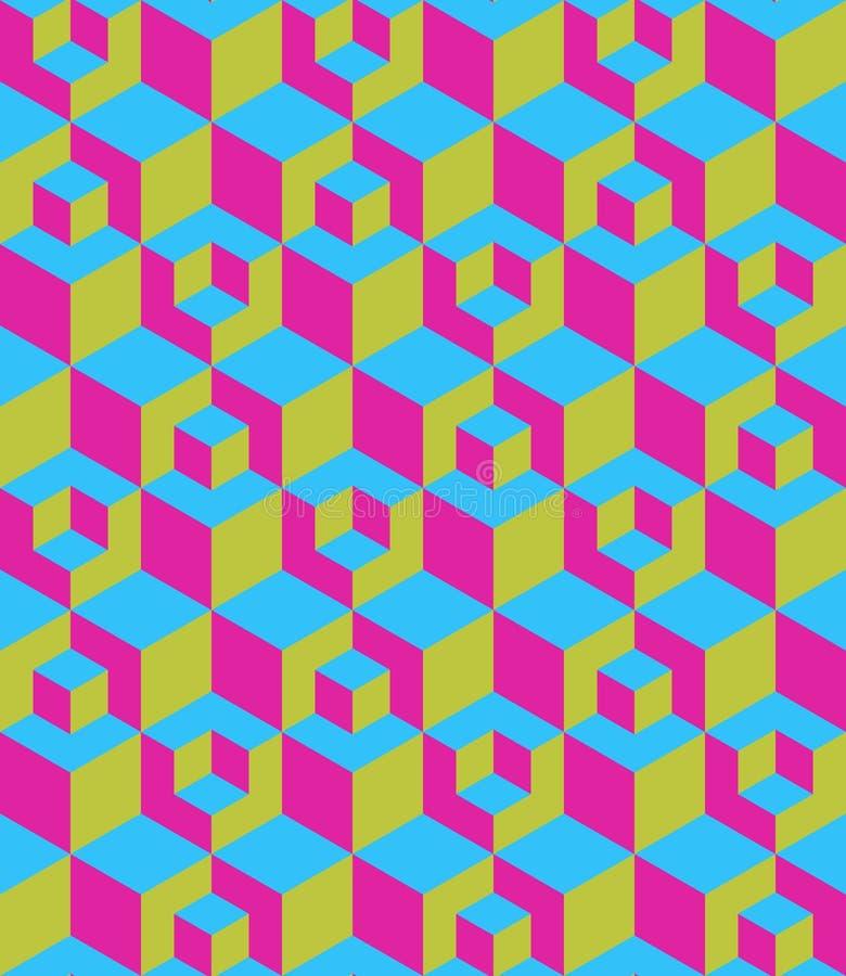 Caixa de três dimensões sem emenda ilustração stock