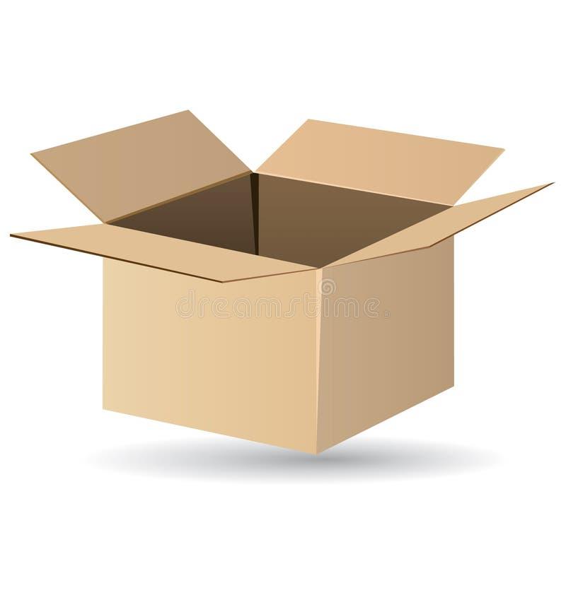 Caixa de transporte ilustração stock