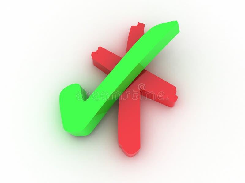 Caixa de verificação ilustração stock