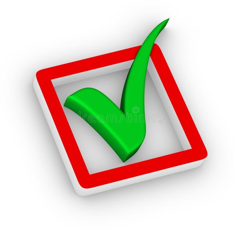 Caixa de verificação e marca de verificação ilustração royalty free