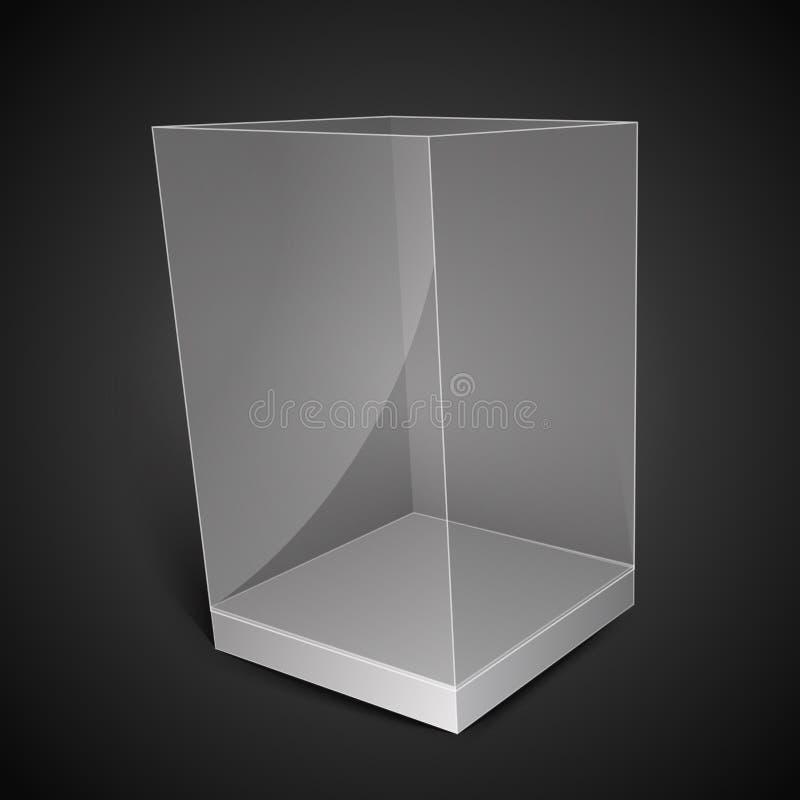 Caixa de vidro branca do retângulo ilustração do vetor