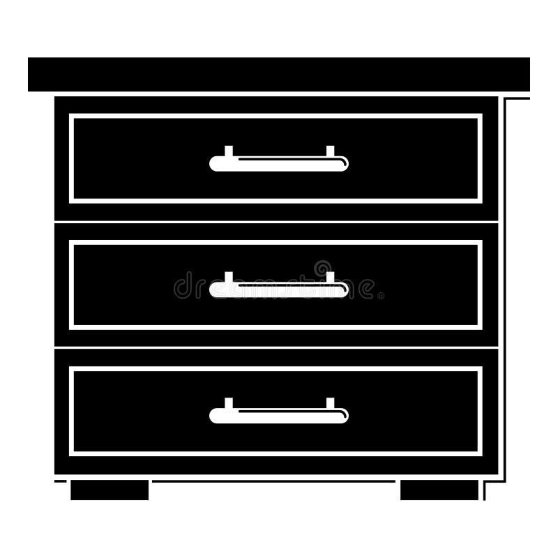 Caixa do ícone das gavetas, estilo simples ilustração do vetor