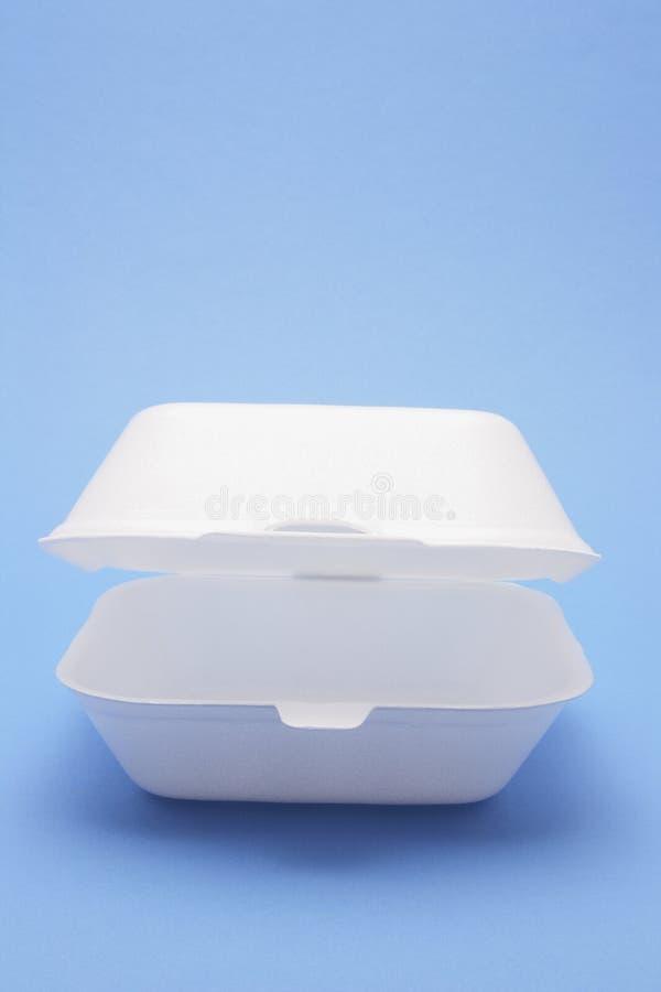 Caixa do alimento do poliestireno imagens de stock