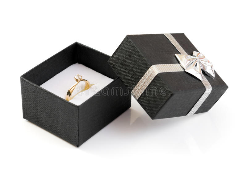 Caixa do anel fotos de stock