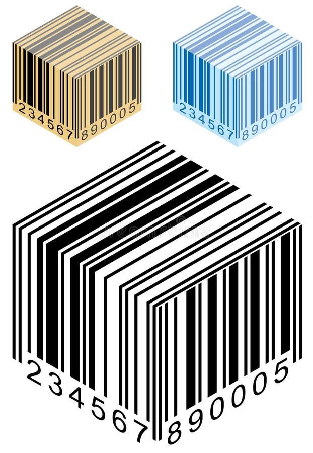 Caixa do código de barras ilustração stock
