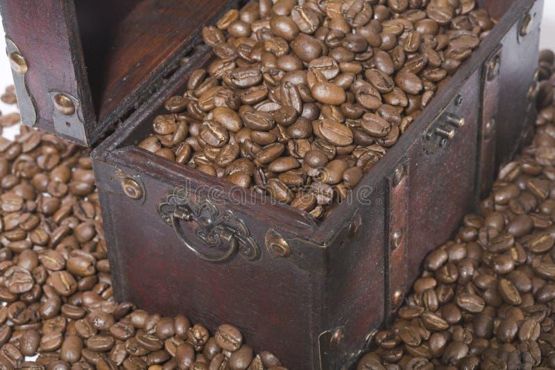 Caixa do café fotos de stock