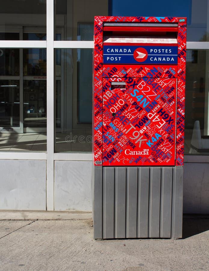 Caixa do cargo de Canadá foto de stock