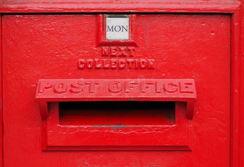 Caixa do cargo de Royal Mail para o correio em Cambridge imagem de stock
