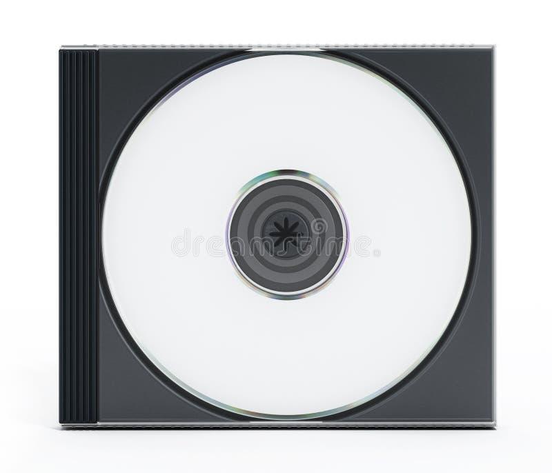 Caixa do CD ou do DVD com meios vazios no fundo branco ilustração do vetor