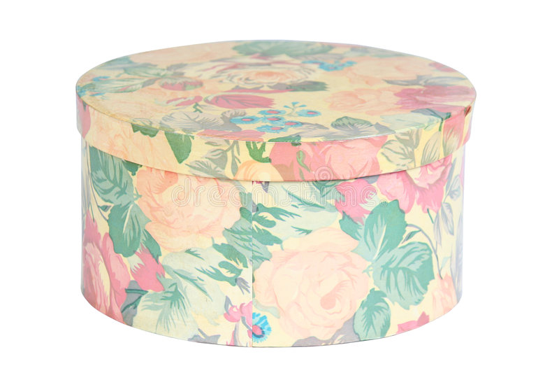 Caixa do chapéu fotografia de stock