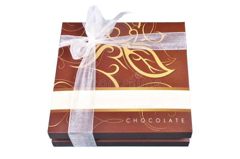 Caixa do chocolate fotografia de stock