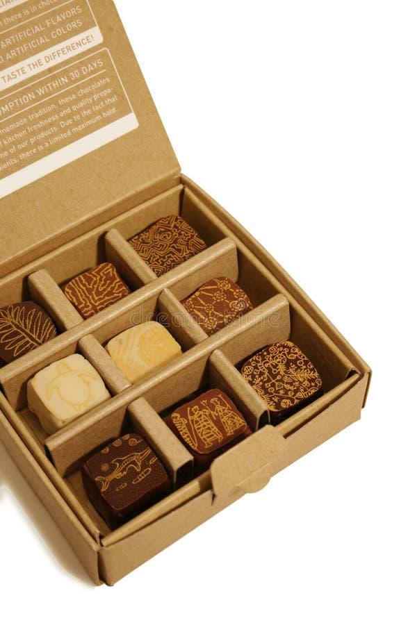 Caixa do chocolate fotos de stock