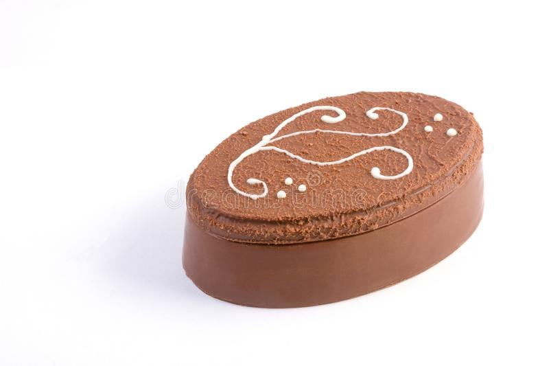 Caixa do chocolate decorada com açúcar foto de stock royalty free