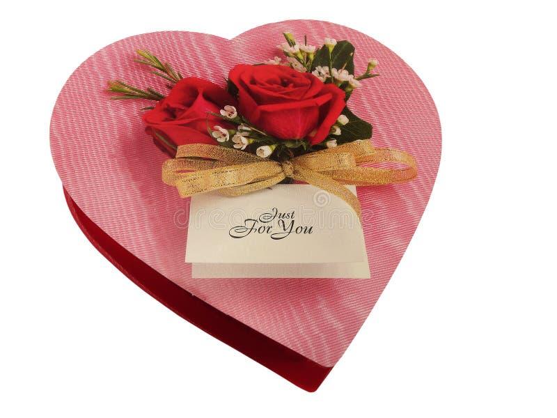 Caixa do coração do chocolate. fotos de stock