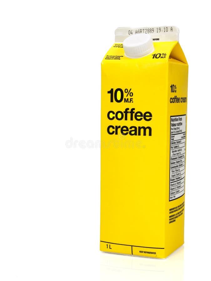 Caixa do creme de café fotografia de stock royalty free