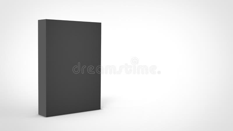 caixa do cubo 3d para render no fundo isolado para o modelo e o molde do projeto de pacote do produto ilustração stock