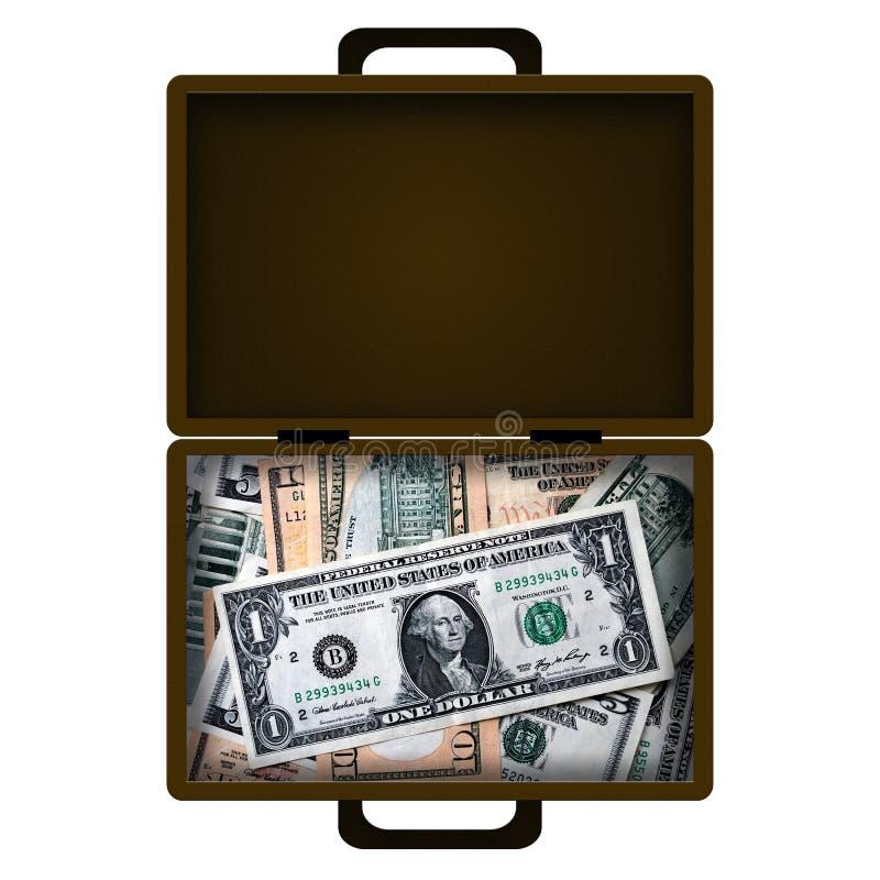 Caixa do dinheiro ilustração royalty free
