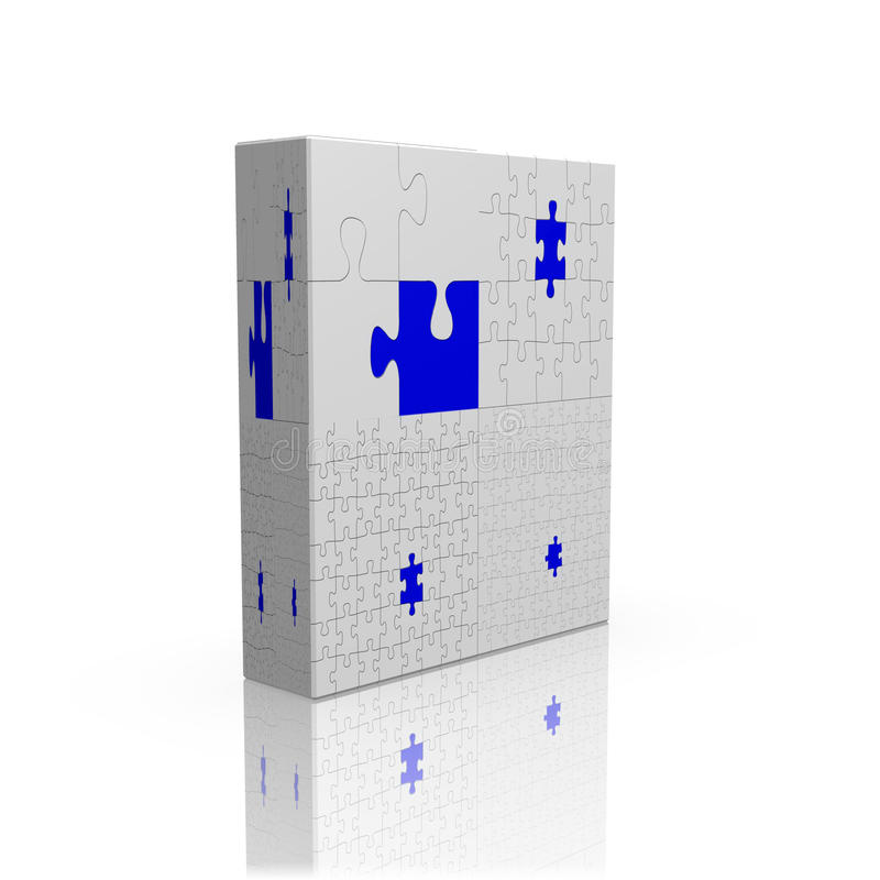 caixa do enigma 3d ilustração royalty free