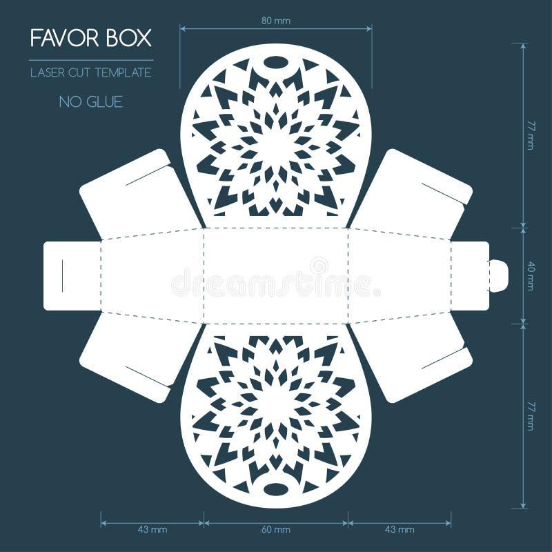 Caixa do favor do corte do laser ilustração do vetor