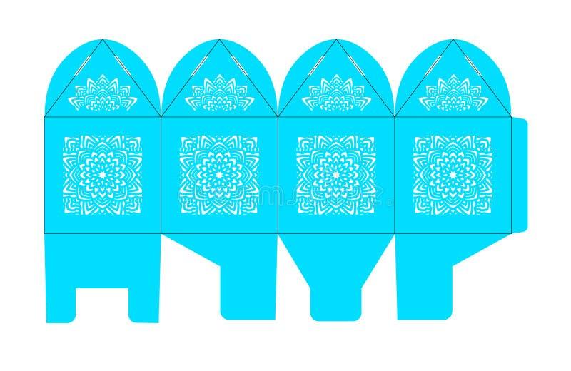 Caixa do favor do Birdcage Caixa de presente do casamento ilustração royalty free