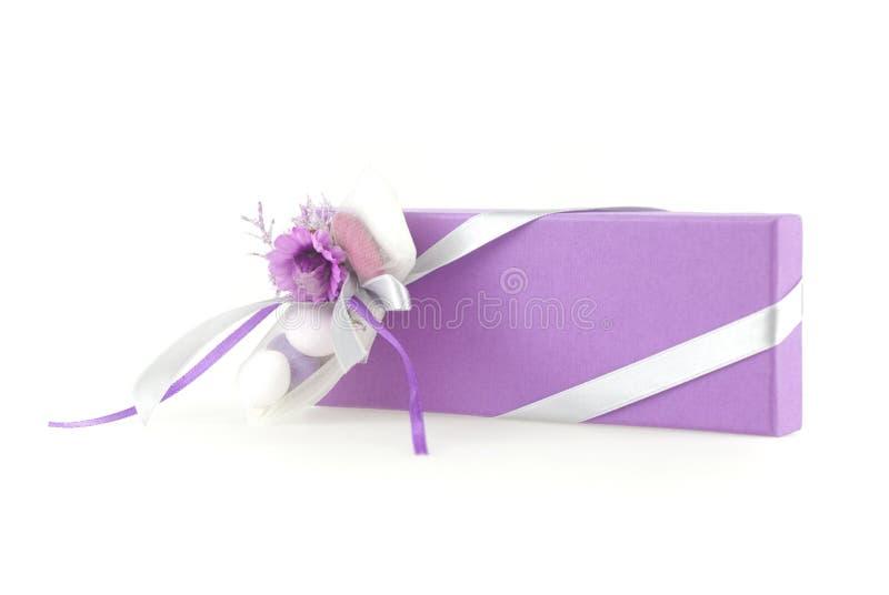 Caixa do favor do casamento imagens de stock royalty free