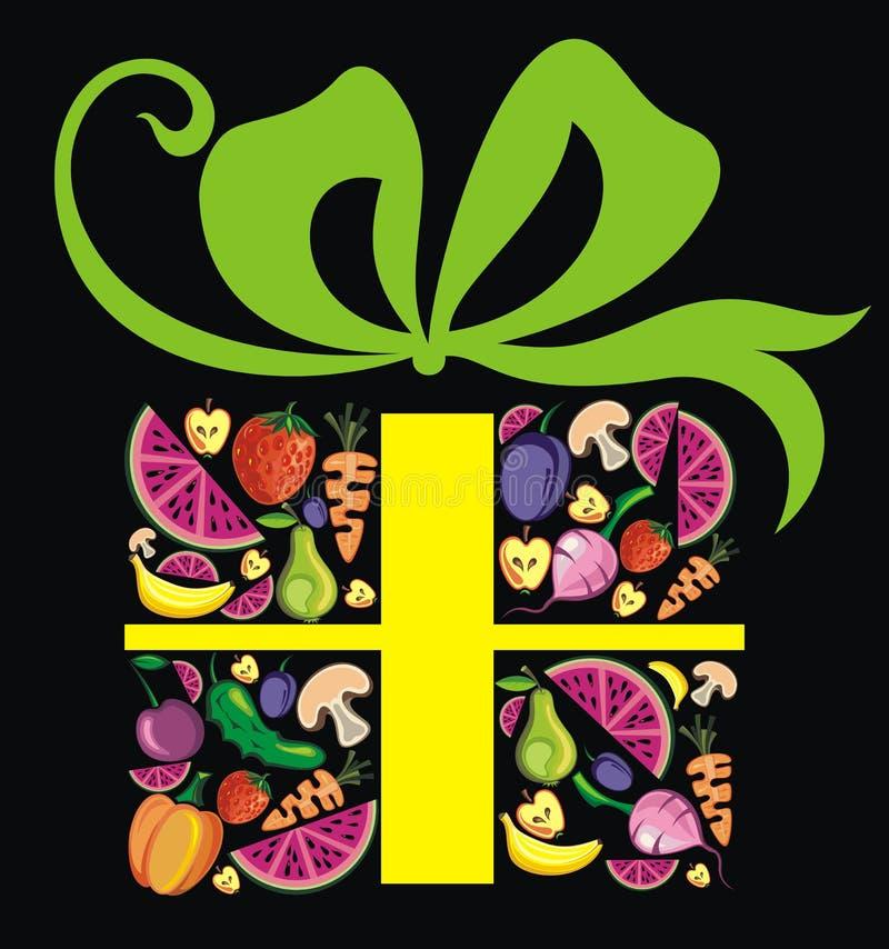 Caixa do fruto ilustração do vetor